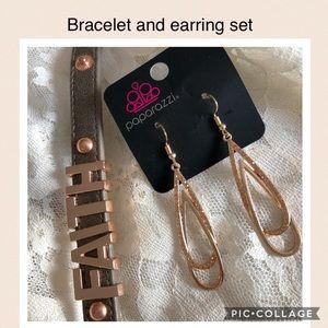 💕5 FOR $25 SALE Rose Gold Toned Bracelet/Earrings
